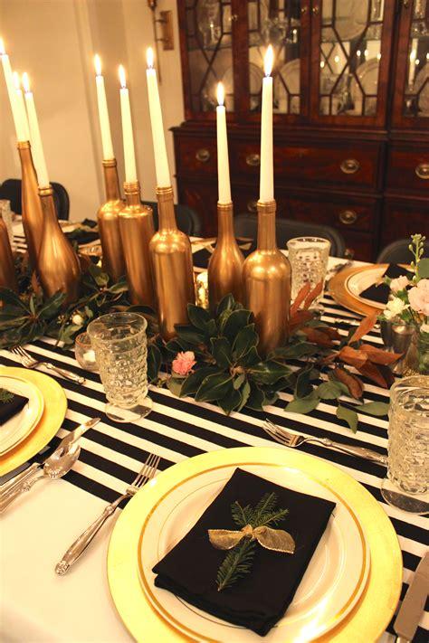 gold black  white   birthday dinner party