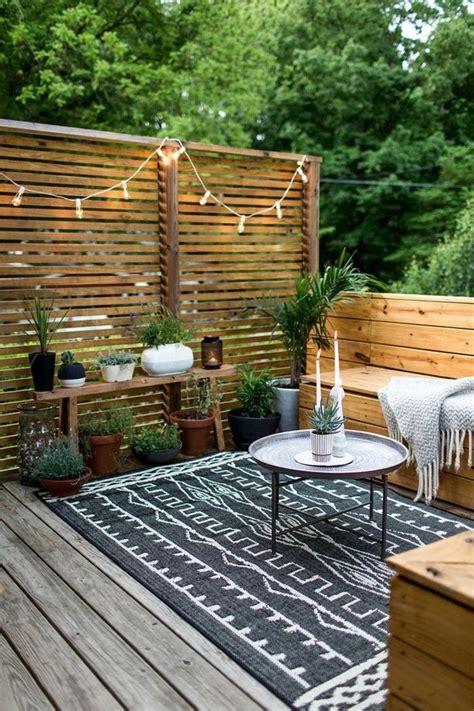 Kleine Terrasse Sichtschutz 1001 ideen f 252 r terrassengestaltung modern luxuri 246 s und