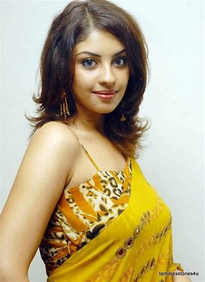 Richa Actress Saree Gangopadhyay Yellow Telugu Indian