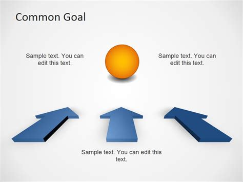 common goal template   powerpoint templates
