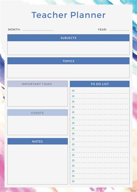teacher planner template  adobe photoshop adobe