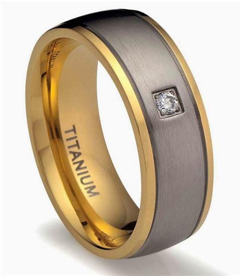 mens titanium wedding rings gray two tone gold diamond