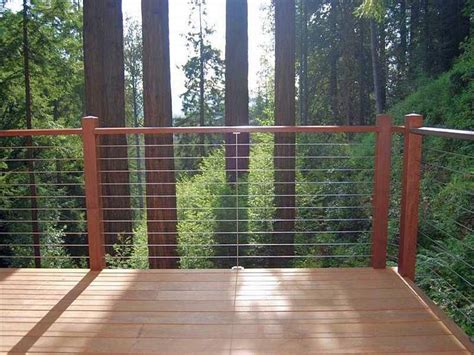 wood porch railings deck modern with balcony fence kit