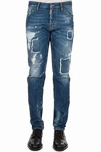Cool Guy Ripped Patch Logo Jeans
