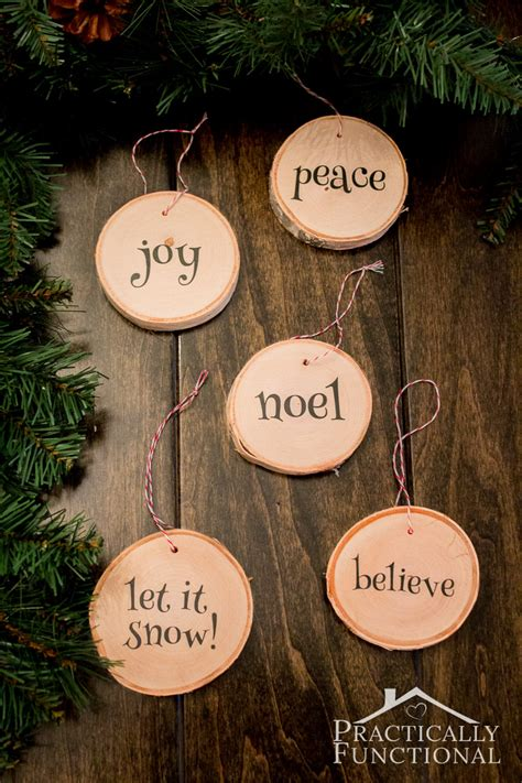 how to make your own christmas decorations out of a4 paper diy wood slice ornaments
