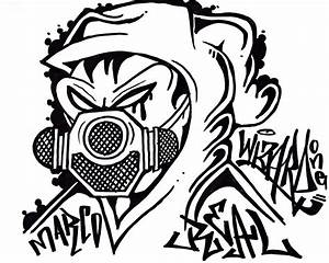 how to draw a Gas Mask graffiti character YouTube