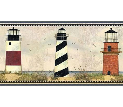 wallpaper borders bathroom ideas lighthouse bathroom decor lighthouse wallpaper border