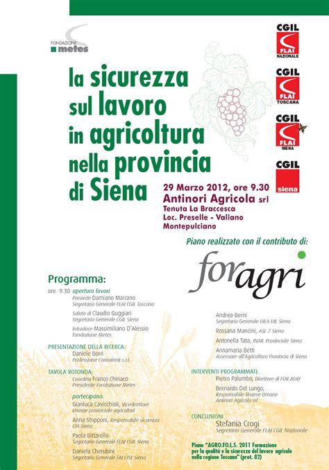 ufficio lavoro siena 29 marzo la sicurezza sul lavoro in agricoltura nella