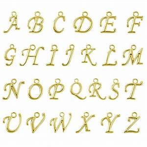 beadnova 100pcs assorted gold plated abc letter alphabet With pendant alphabet letters