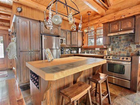 cuisine pour chalet sitelle au chalet en bois rond