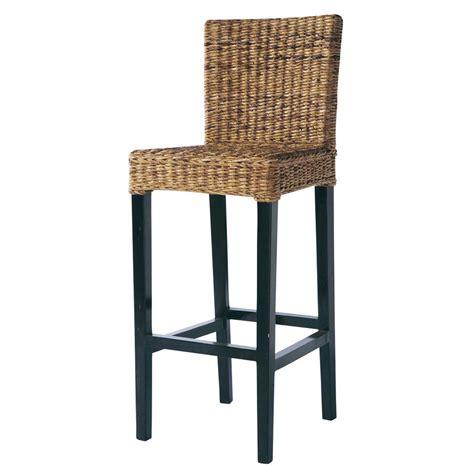 tabouret chaise chaise de bar en abaca et mahogany massif rangoon