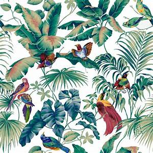 jungle canopy multi mural de pared y papel tapiz With markise balkon mit tapete palm jungle