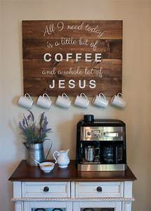 23 best coffee station ideas and designs for 2018 With kitchen cabinet trends 2018 combined with religious wall art quotes