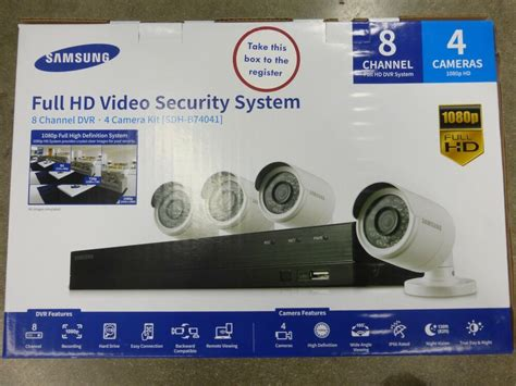 samsung security system samsung 8 channel 1080p hd security system 1tb hdd with 4
