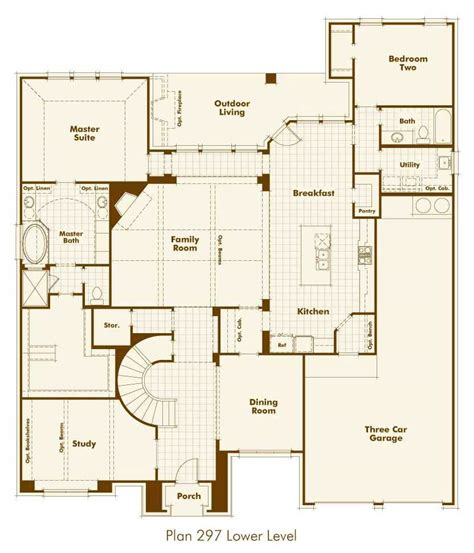 Highland Homes Floor Plans 921 by New Home Plan 297 In Prosper Tx 75078