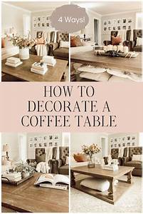 How, To, Decorate, A, Coffee, Table, Cheaply, 4, Ways