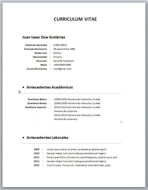 Lebenslauf Einfach by 2018 Argentina Documentos Curriculum Vitae Simple