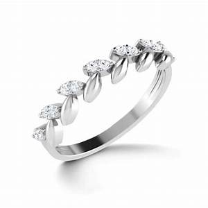 Floral Elegance Platinum Ring Jewellery India Online ...