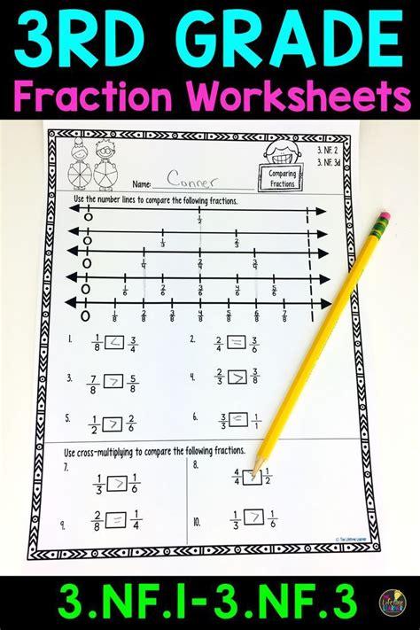 grade fraction worksheets  grade fractions math