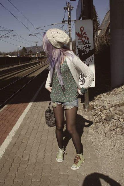 Purple Hair Hipster Love Pinterest