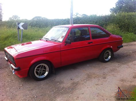 ford escort rs red mk mexico flat front