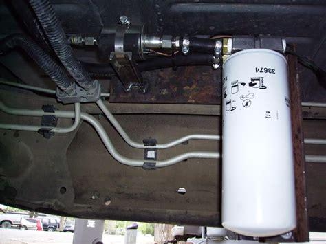 Boat Lift Pump by Lift Pump Diy Filter Installed Diesel Bombers