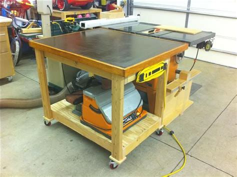 evolution   shop  outfeed table  bench vise