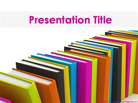 books powerpoint template   powerpoint
