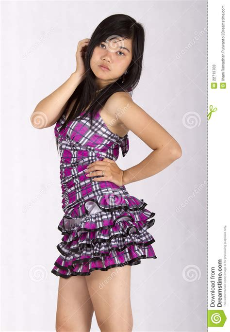 Asian Girl With Pose Stock Image Image Of Adult Cute