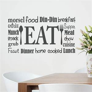 kitchen wall decal eat sign vinyl lettering fork and With vinyl lettering wall decals