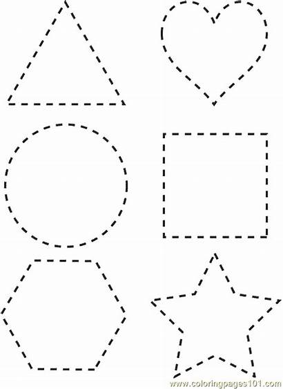 Coloring Shapes Shape Pages Printable Tracing Sheet