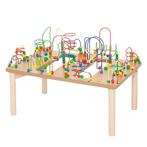 table d eveil en bois table d activit 233 boulier jeu d enfant
