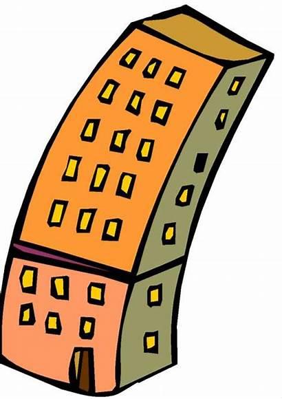 Gedung Clipart Bertingkat Weird Building Clip Library