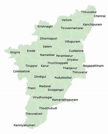Tamil Nadu District Map Districts Svg India