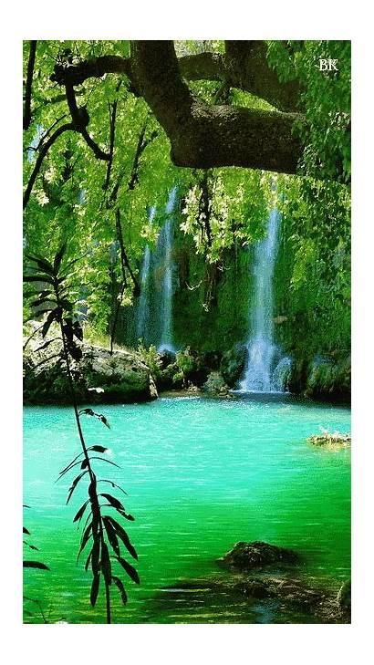 Nature Scenery Places Waterfall Landscapes Waterfalls Pemandangan