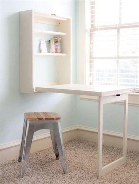 hideaway desk ideas  save  space shelterness