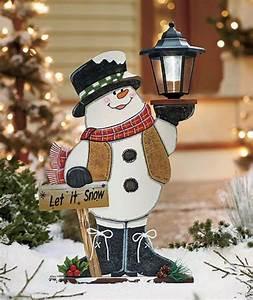 Snowman, Solar, Light, Lantern, Yard, Lawn, Garden, Porch, Outdoor, Home, Christmas, Decor