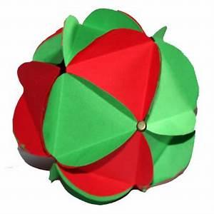 Origami Boule De Noel : boule de no l en 3d boule de no l en papier et en relief sur t te modeler ~ Farleysfitness.com Idées de Décoration