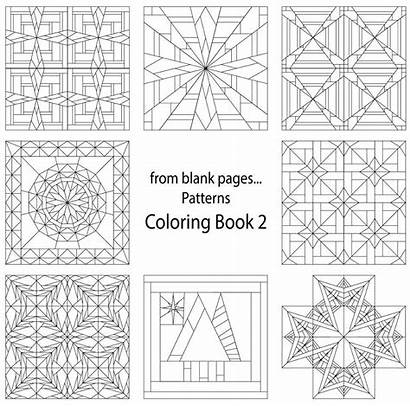 Coloring Pages Quilt Blank Patterns Pattern Printable