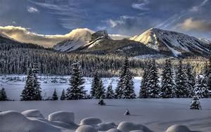 Winter Mountain Scenes Wallpaper
