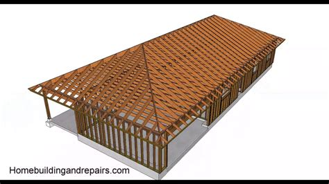 What Is A Hip On A Roof by Hip Roof Design And Building Basics Conventional Framing