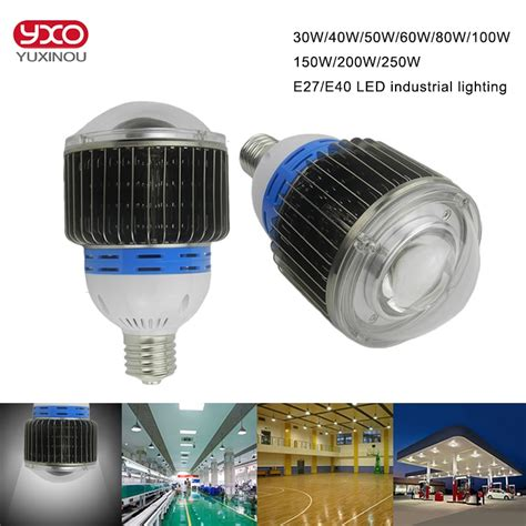led e27 100w 30w 50w 60w e27 e40 led bulb 100w 120w 150w 200w 250w led high bay light bulb for industry