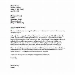 Sample Resignation Letter  Free Printable Doents
