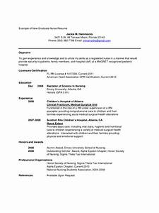 Resume For Graduate Nurse resume for new graduate nurse