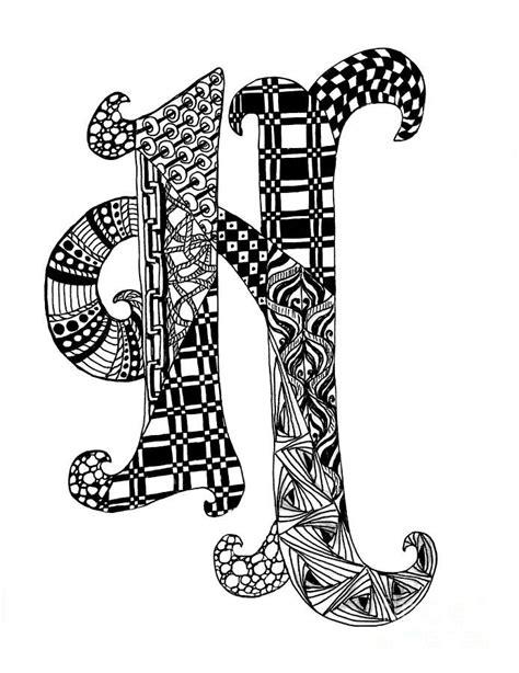 zentangle letter y monogram drawing zentangle alpha zentangle letter h monogram in black and white drawing 87671