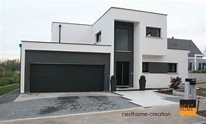 maison a l39architecture contemporaine a toit plat With photo maison toit plat 14 agrandir teraa