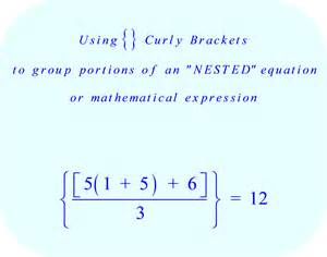 Braces and Bracket Math Problems