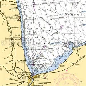 kitchen collection free shipping michigan lake huron south nautical chart decor