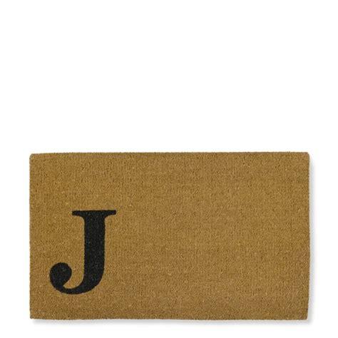 monogram doormats single letter monogram doormat williams sonoma