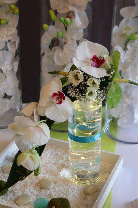 decoration mariage sur le theme zen orchidee
